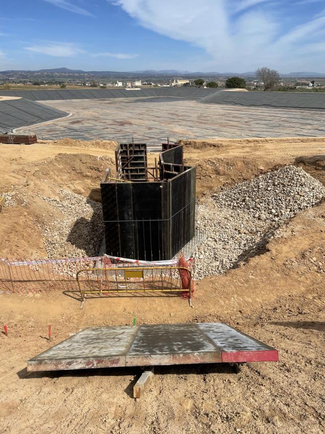 Obra donde se instalarán las turbinas-bombas.CINGRAL
