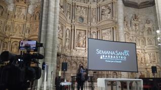 Pregón de Semana Santa en Barbastro.