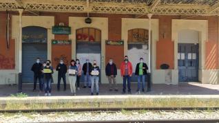 concenraciones tren provincia de Huesca
