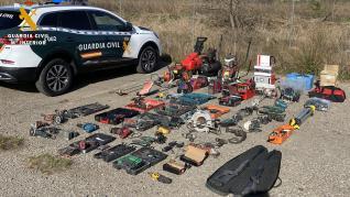 robo almacenes casetas campo Huesca Loporzano Siétamo