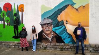 """La Almunia convierte la canción """"Somos"""" de Labordeta en murales"""