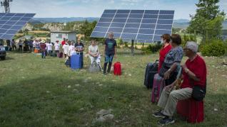Protesta contra el parque fotovoltaico en La Fueva