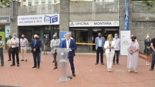 Inauguración de la Oficina de la Montaña de Jaca.