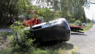 Accidente a la altura del Psiquiátrico de Huesca