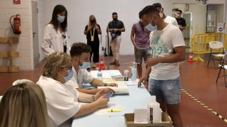 Vacunació de los jugadores del Huesca.