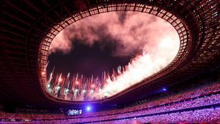 Ceremonia de inauguración de los Juegos Olímpicos de Tokio 2021.