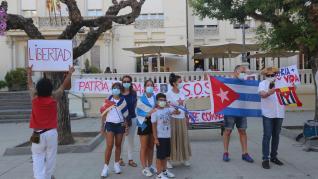 Cubanos piden en Huesca libertad para su país