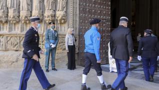Celebración de la Guardia Civil en Huesca por el Día del Pilar.