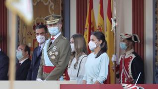 Desfile y recepción oficial en Madrid con motivo de la Fiesta Nacional.