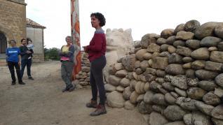 Inauguración de los Muretes de arte y del Mural del río Gállego en Erés