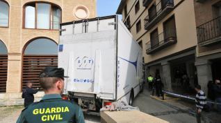 Llega el tercer envío de los bienes de las parroquias aragonesas en depósito de Lérida.