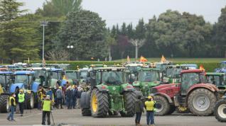 Tractorada por la PAC en Huesca
