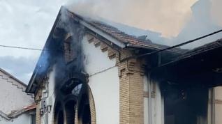 Incendio en el antiguo Matadero de Jaca