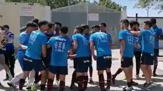 El Huesca B le hace pasillo al Juvenil y le da ánimos