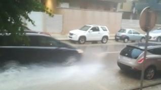 La lluvia cayó con fuerza en Huesca
