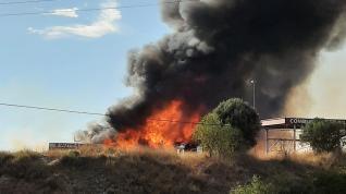 Incendio en la Cooperativa de Tamarite de Litera