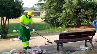 Limpieza botellón Jaca