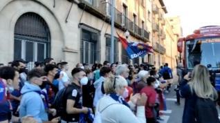 Despedida a los jugadores del Huesca.