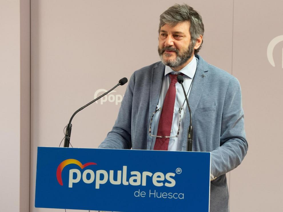 Gerardo Oliván, presidente del Partido Popular de Huesca