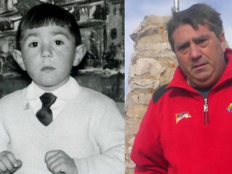 Paco Bitrián de niño y en la actualidad.