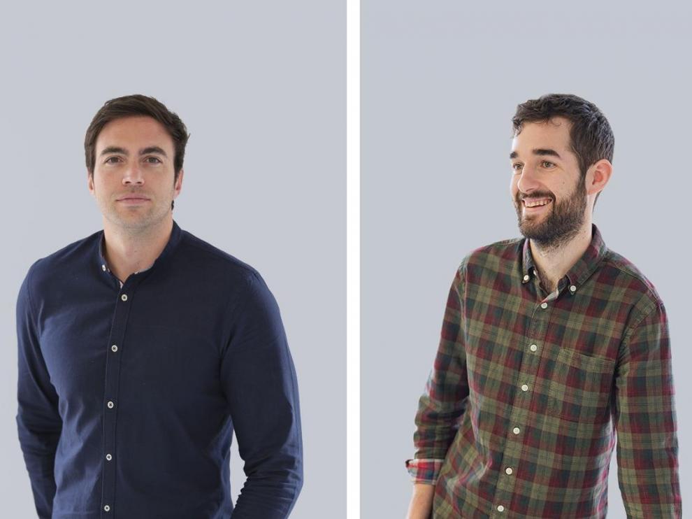 Daniel Puértolas y Alberto Portolés, de la agencia Numericco de Barbastro.