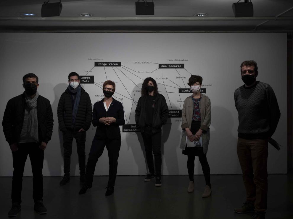 Antonio Fernández Alvira, Jorge Isla, Maribel de Pablo, Ana Escario, María Luna y Antonio Campo presentaron la exposición.