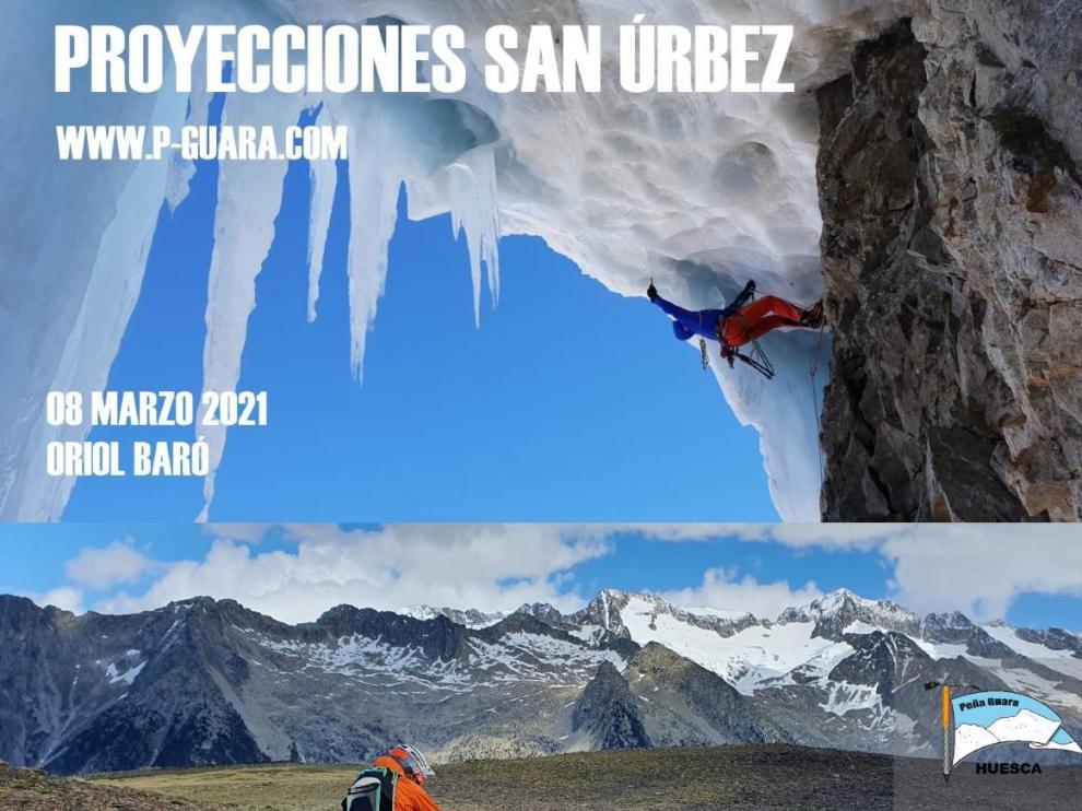 Cartel de las proyecciones de San Úrbez, que recupera Peña Guara el lunes y el martes.