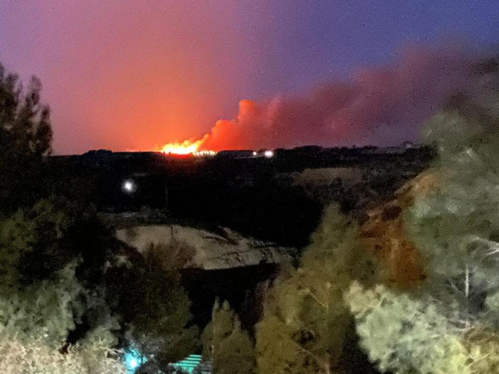 Imagen del incendio esta tarde en Zaidín