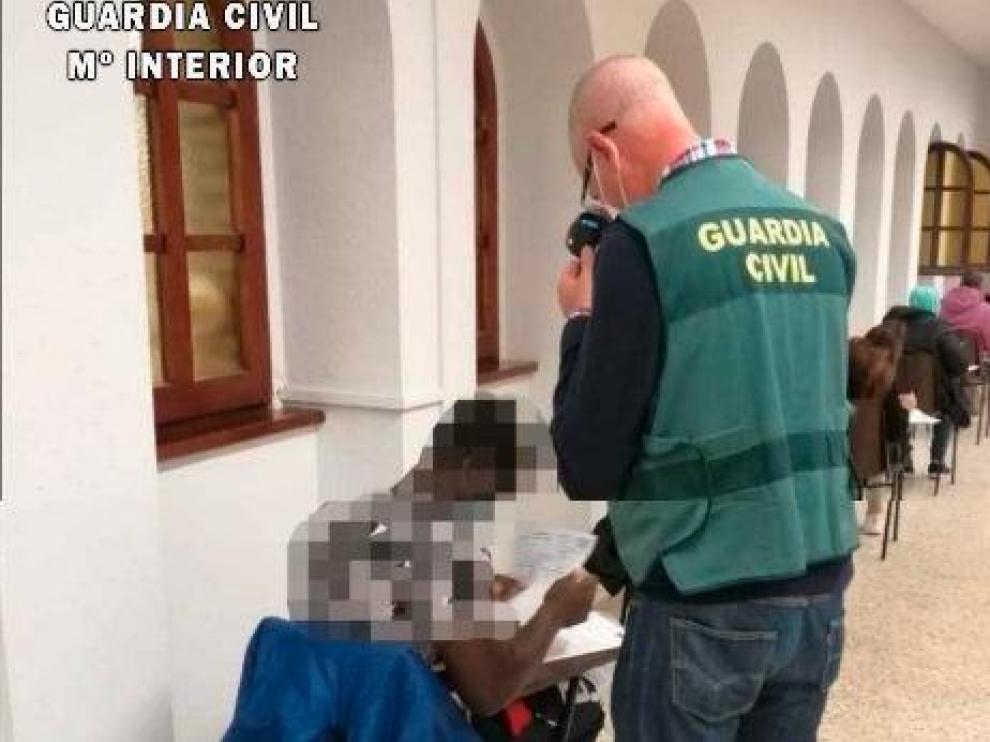 Imagen de la investigación enviada por la Guardia Civil.