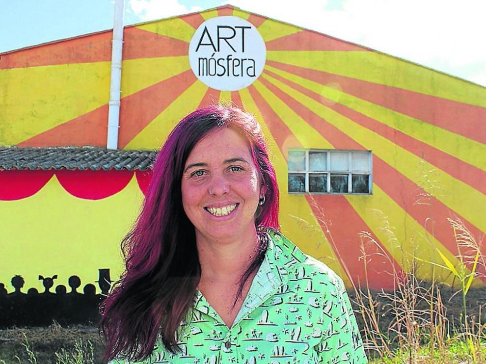 Berta Gascón es la promotora de ARTmosfera, que ahora gestiona la Red de Mujeres Artistas (MAR).