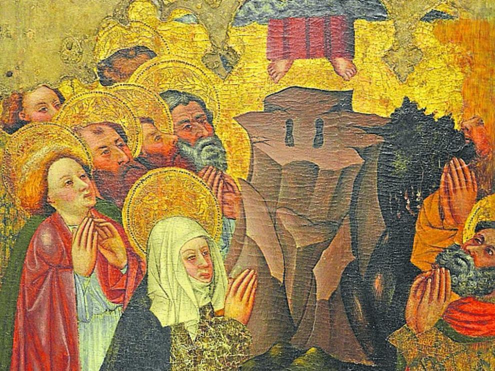 La tabla de la Ascensión de Binaced es uno de los bienes devueltos al Obispado de Barbastro-Monzón.