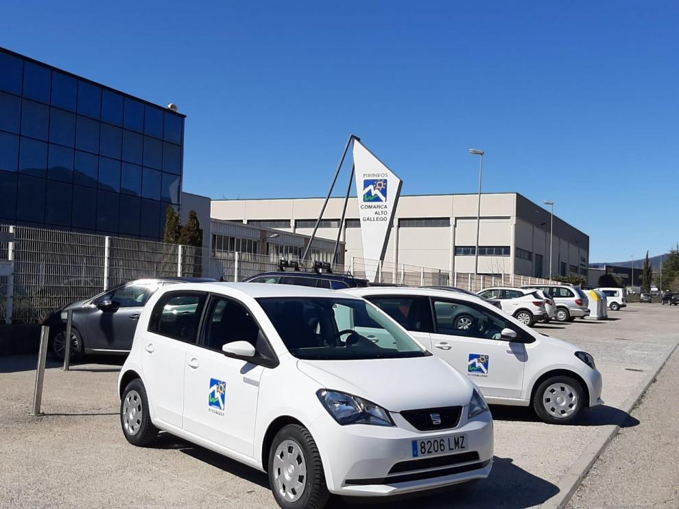 Vehículos eléctricos que ha adquirido la Comarca del Alto Gállego.