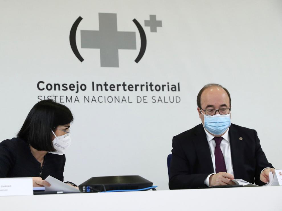 Los ministros Carolina Darias y Miguel Iceta presidieron el Consejo Interterritorial.