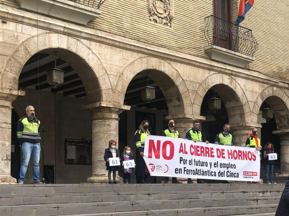Manifestación de Ferroatlántica del Cinca este sábado en Monzón.