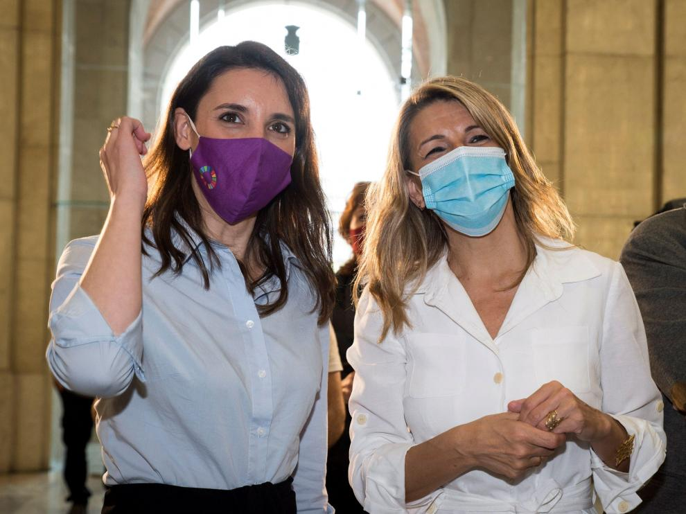 Irene Montero y Yolanda Díaz