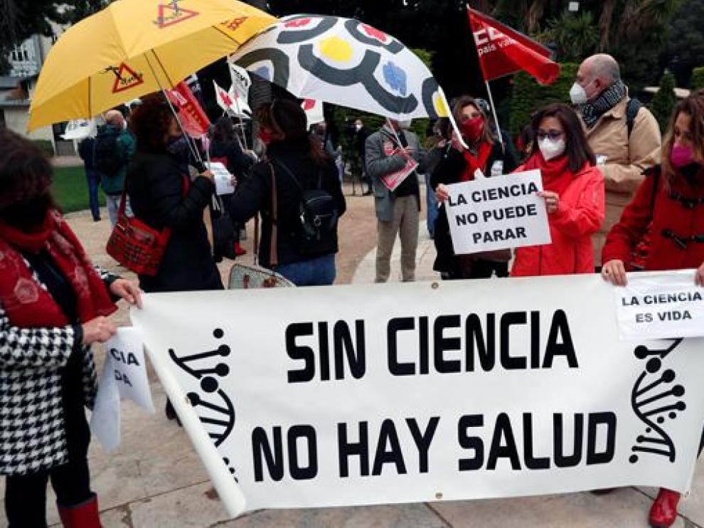 Los investigadores se manifestaron ayer en diferentes ciudades españolas.