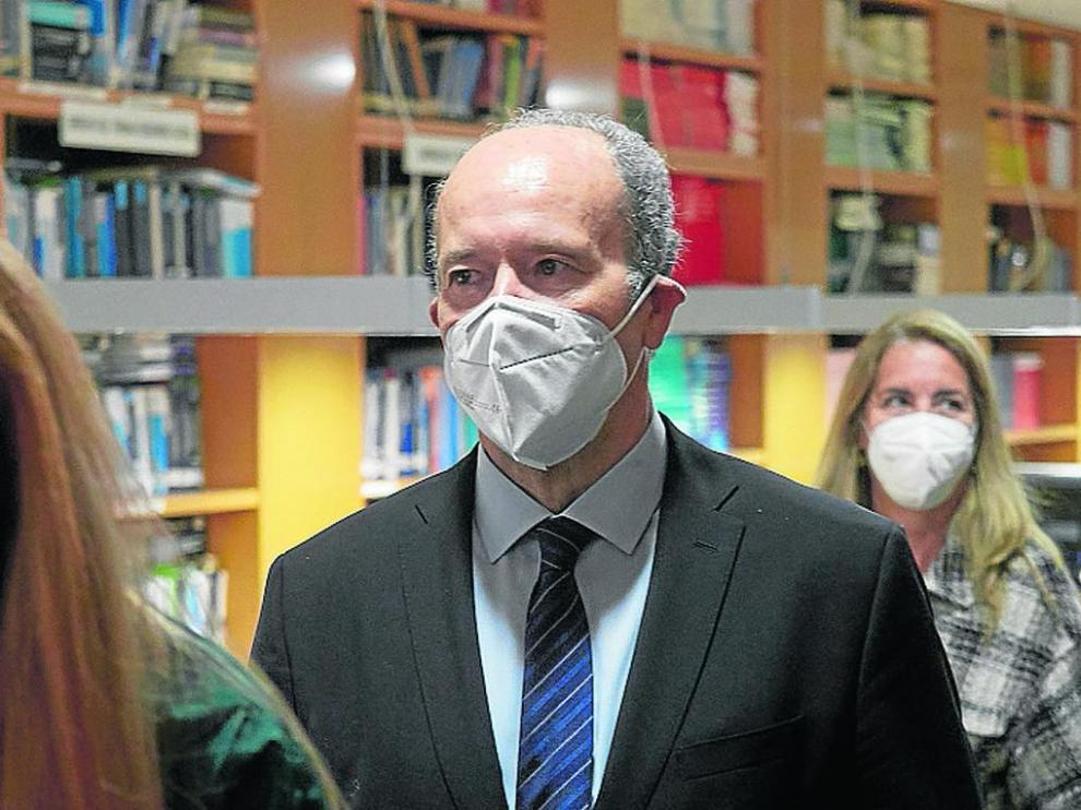 El ministro de Justicia, Juan Carlos Campo, este martes en Pamplona en una jornada del Colegio de Abogados.