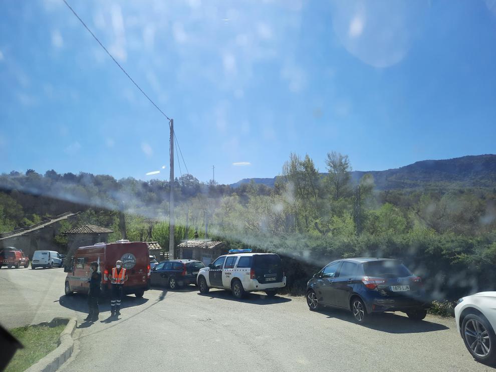 Imagen del operativo desplegado esta mañana para la búsqueda del vecino de Capella.