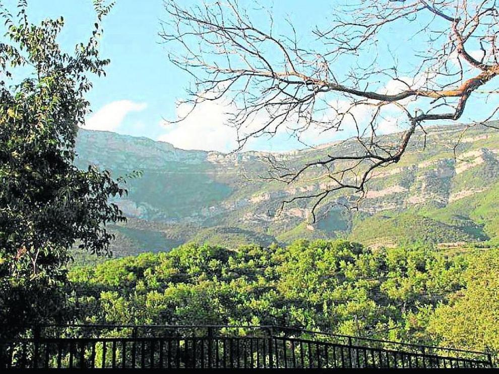 Vista del monte desde el mirador de Samper, el lugar de la provincia escogido por Jorge Lafuente