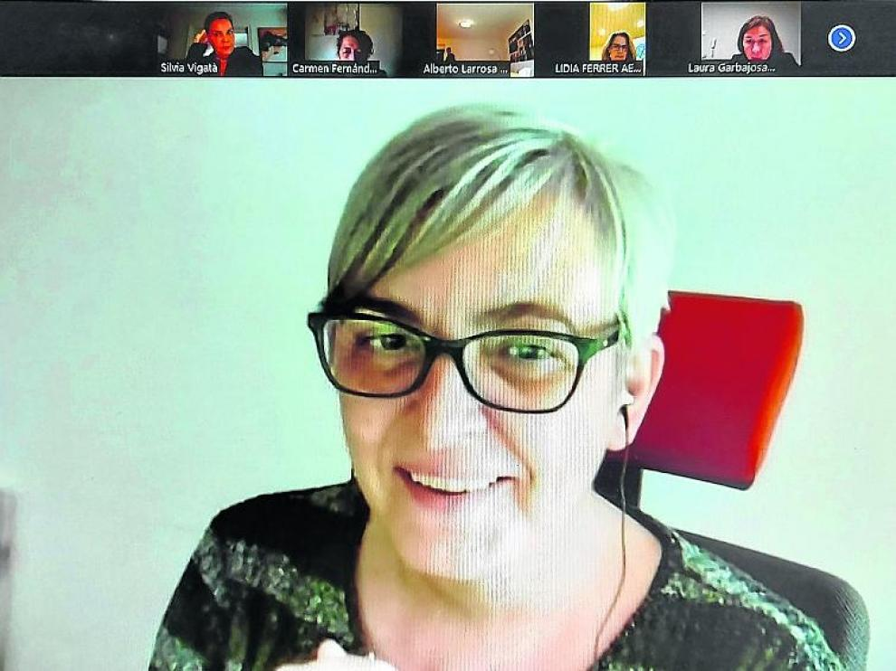 Pilar Novales, socióloga y experta en mediación, durante la jornada virtual sobre Responsabilidad Social que impartió la semana pasada.