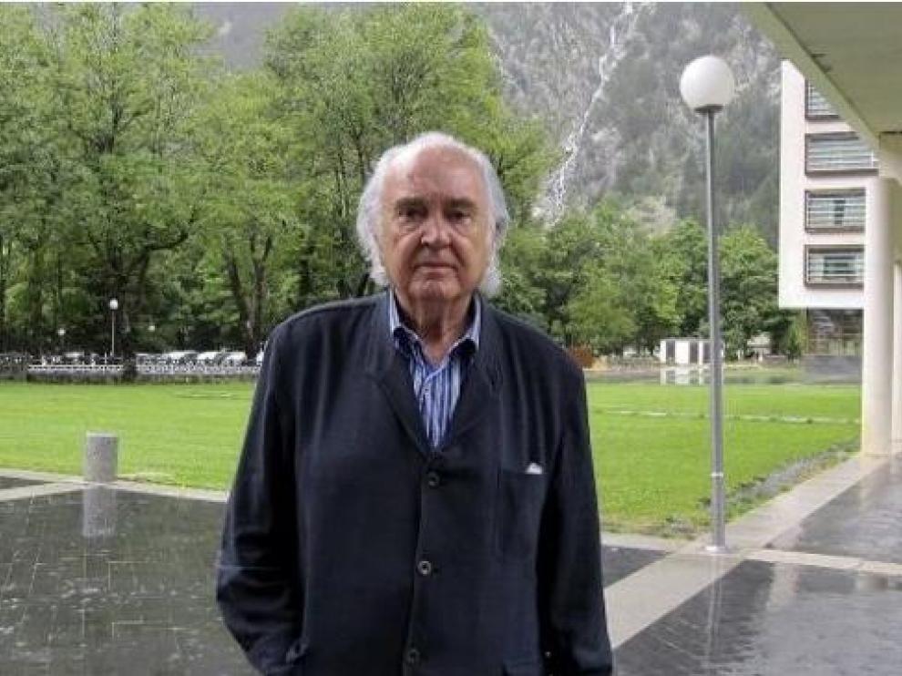 Antón García Abril, en una de sus últimas visitas al festival musical.