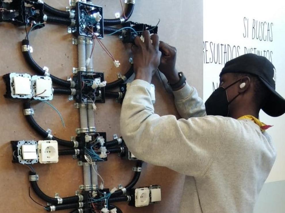 Imagen de archivo de un curso de electricidad
