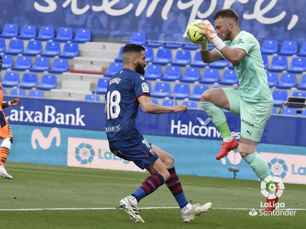 Una imagen del partido ante el Valencia