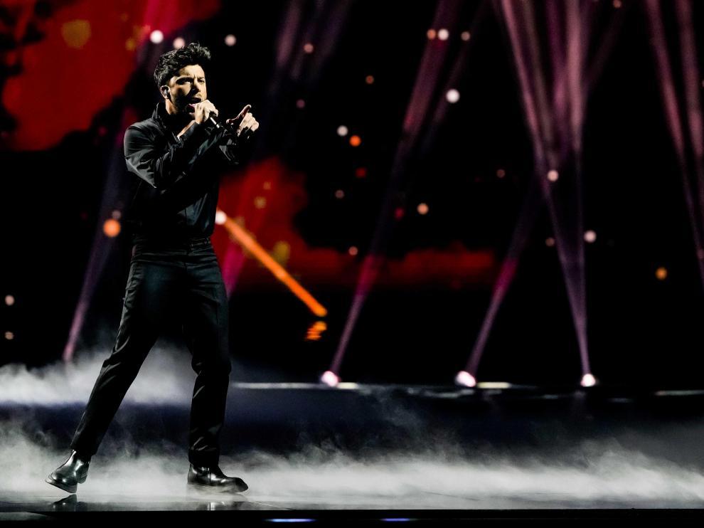 Blas Cantó defendió su tema Voy a quedarme en el festival de Eurovisión.