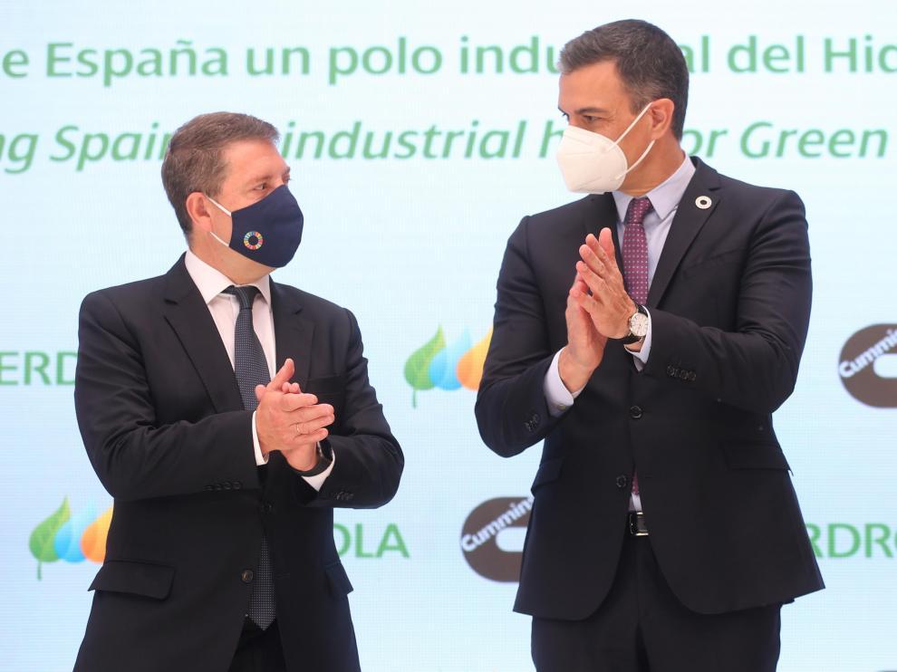 El Presidente de Castilla la Mancha y Pedro Sánchez este lunes