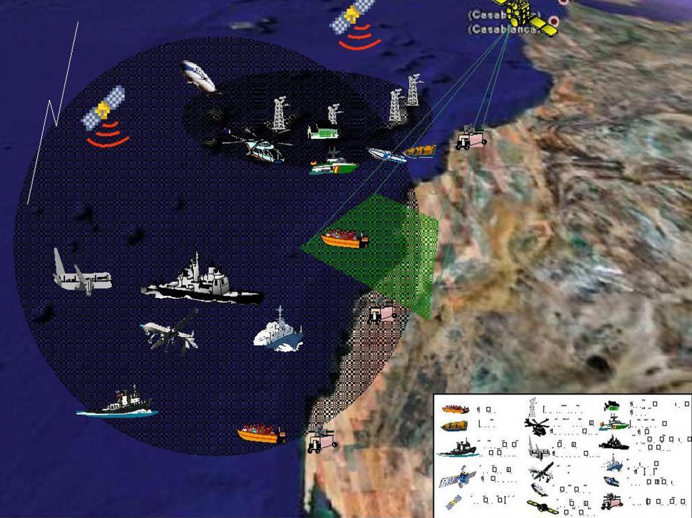 Fractalización de las fronteras más allá de las metrópolis. Mapeando topografías fronteras emergentes, 2014 (Imagen de la conferencia de Sebastián Covarrubias y Maribel Casas)