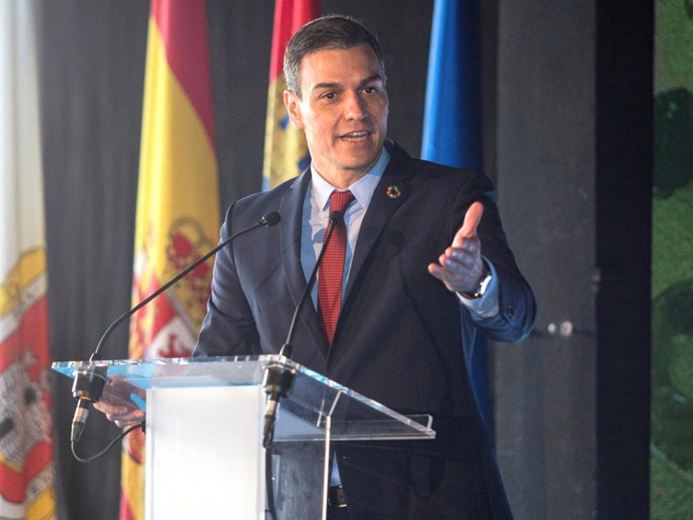 Pedro Sánchez en la IV Feria Nacional para la Repoblación de la España Rural (PRESURA), este viernes en Soria