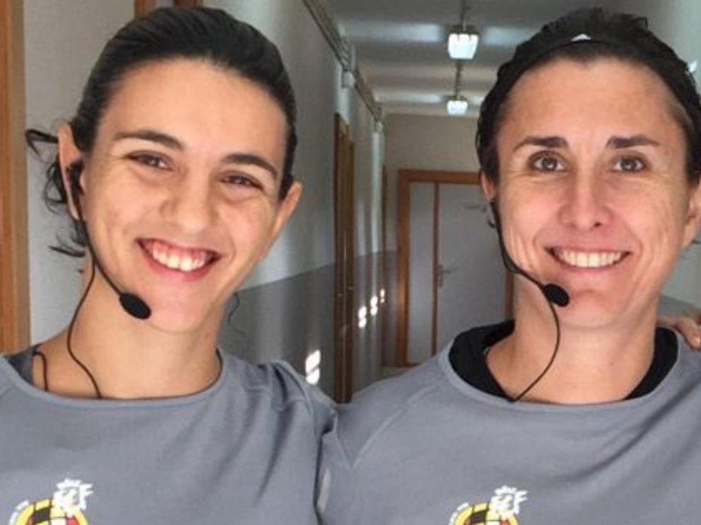 Carmela Capistrós y Marta Frías, aragonesas en el equipo arbitral de la final de Copa.