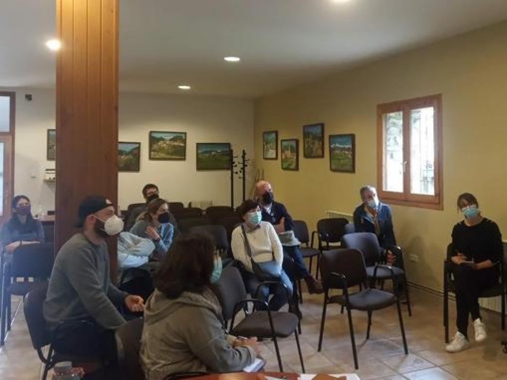 Encuentro de colaboradores del proyecto Pueblos Vivos Aragón.