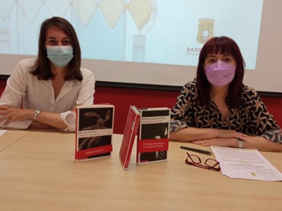Blanca Galindo y María Ángeles Naval en la rueda de prensa de este jueves.